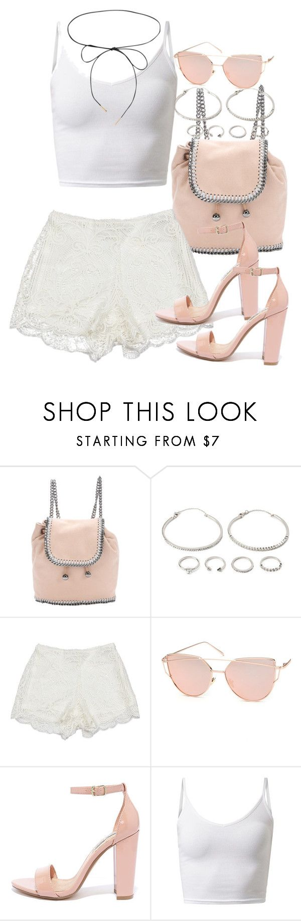 """""""NEW BLOGPOST ON victoriainspires.blogspot.com"""" by victoriamk ❤ liked on Polyvore featuring STELLA McCARTNEY, Forever 21, Sans Souci, Chicnova Fashion, Steve Madden and Lilou"""