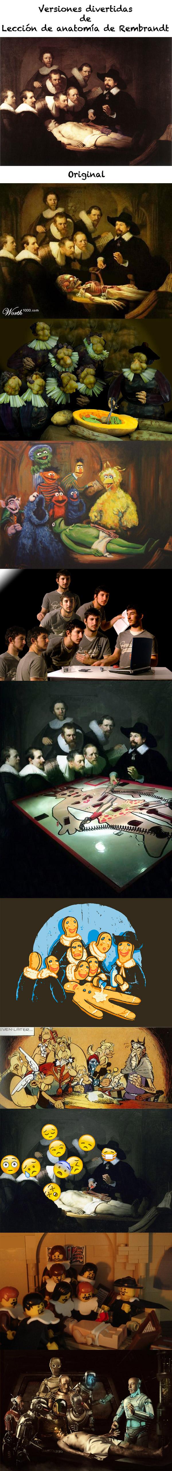 Versiones divertidas de Lección de anatomía de Rembrandt | locuras ...