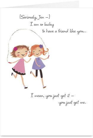 Double Jump Rope Friendship Card