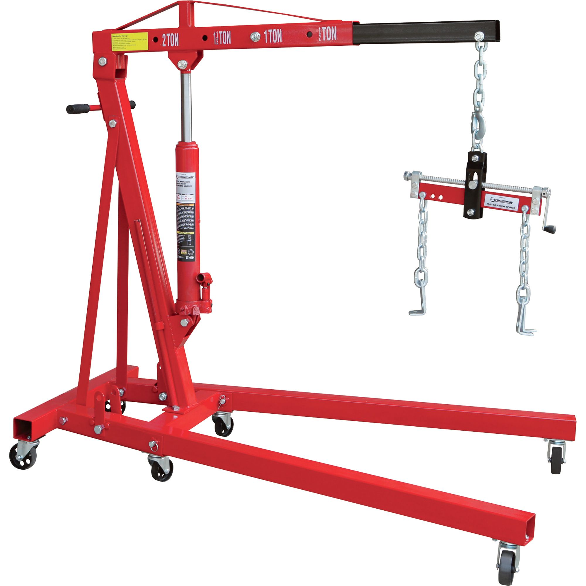 Strongway Hydraulic Engine Hoist With Load Leveler 2 Ton