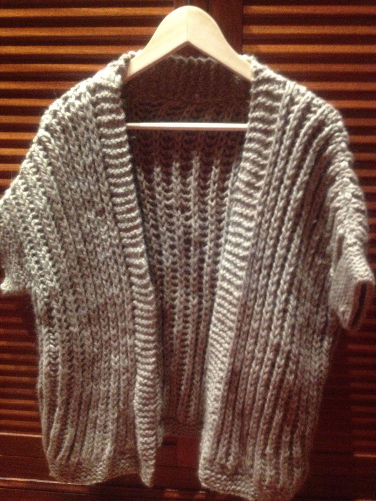 Juntitos...: Chaleco en punto inglés.   Knit stitches   Pinterest ...