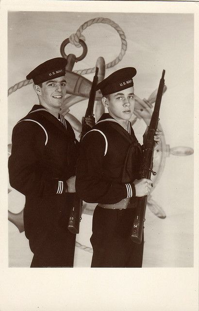 Two sailors, circa 1940s by boobob92, via Flickr