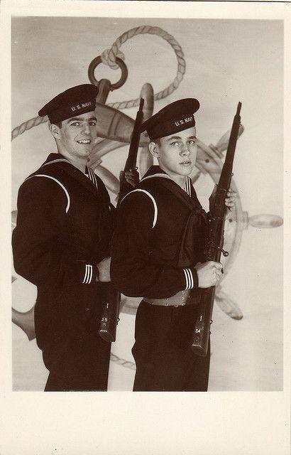 Two sailors, circa 1940s by boobob92, via Flickr