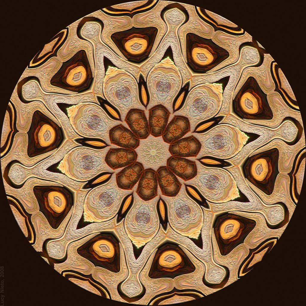 "https://flic.kr/p/4pfm4o | Caleidoscope E8 6905 0329 | Imagen generada con Kaleider, Filter Forge y ThumbPlus. Original: <a href=""http://www.flickr.com/photos/lucynieto/2232204467/"">Pared de lajas</a> Abstracto: <a href=""http://www.flickr.com/photos/lucynieto/2232882011/""> Abstract E8 6905 - 2007</a> Caleidoscopios: <a href=""http://www.flickr.com/photos/lucynieto/sets/72157603830631055/"">Cal E8</a>."