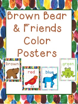 brown bear friends color posters color posters brown bear and