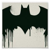 Batman Symbol | Spraypaint Logo Poster | Zazzle.com