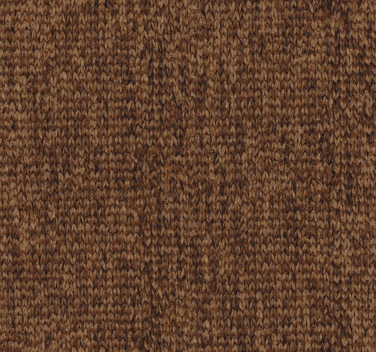York At7102 Tropics Woven Mat Wallpaper Reddish Brown