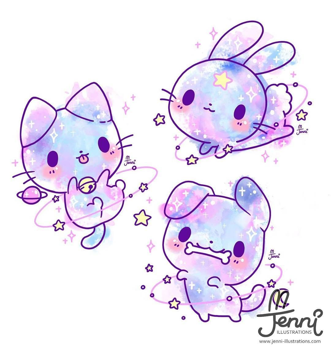 Space Pets Space Galaxy Pastel Bunnylove