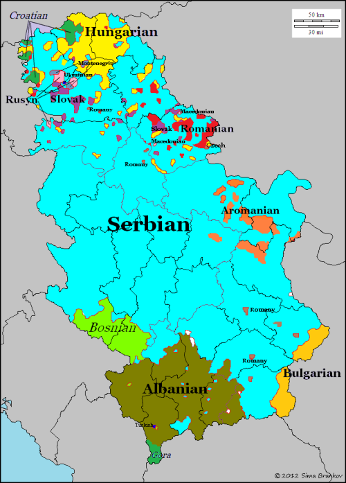 Languages of Serbia and Kosovo The Power Of Maps Pinterest