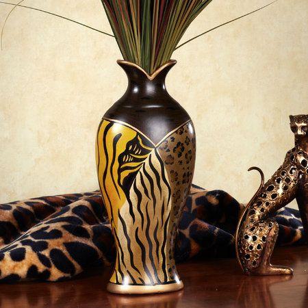 Safari Animal Print Classic Table Vase Im Not Into This Type Of