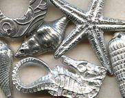 Sea Life - Dorabeth Designs Pewter @antelopebeads.com #beading #dorabeth designs #jewelry