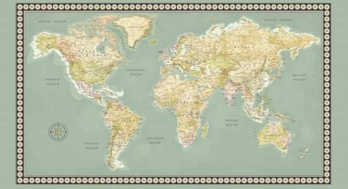 Meridian world map fabric panel 23 x 44 inch world map panel meridian world map fabric panel 23 x 44 inch world map panel continents on publicscrutiny Gallery