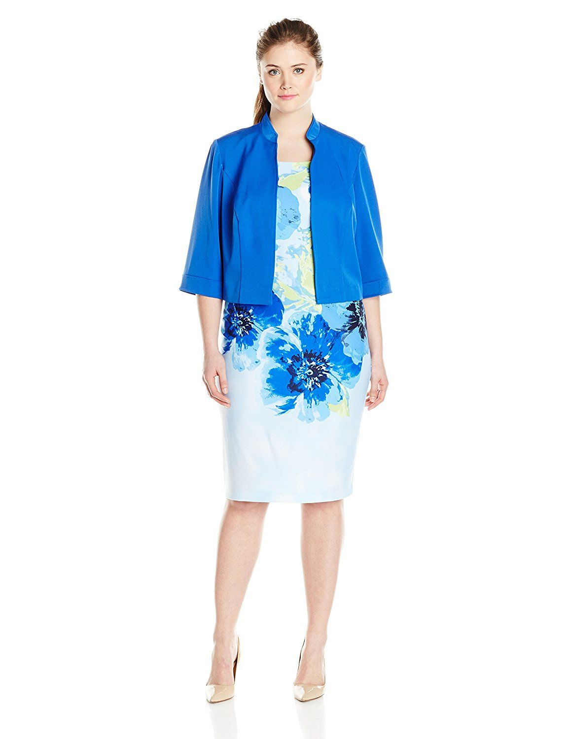 94cbca084b7 Maya Brooke Women s Plus-Size Floral Place Print Jacket and Dress Set      New and awesome product awaits you
