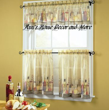 Incroyable Anns Home Decor And More   Tuscany Tuscan Tier Valance Set Kitchen Curtains