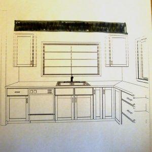 standard window size over kitchen sink