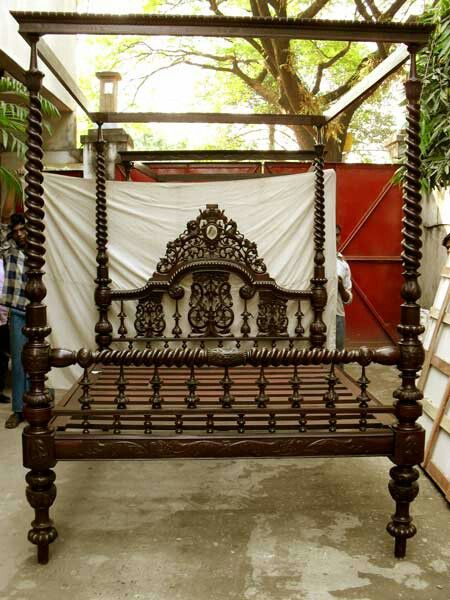 British colonial style four poster bed circa 1840 Definitley on the