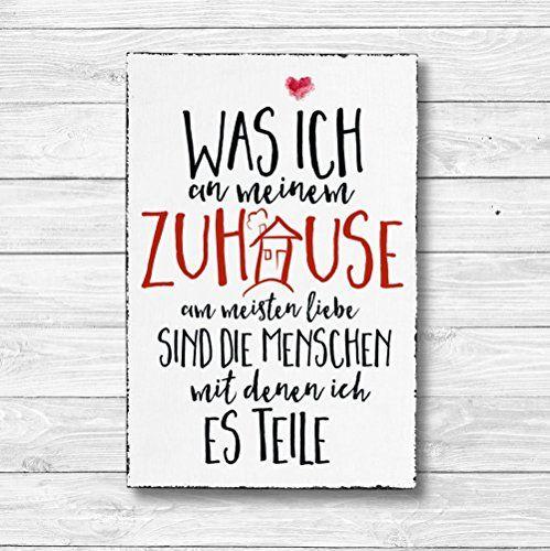 Was Ich An Meinem Zuhause Am Meisten Liebe   Dekoschild Wandschild Holz Deko  Wand Schild 20x30cm Holzdeko Holzbild Geschenk Mitbringsel Geburtstag U2026