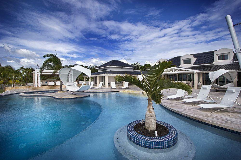 Gorgeous pool design by VDA at St. Martin Villa   Villa ...