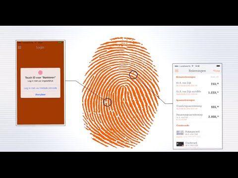 Vingerafdruk Touchid In De Ing Mobiel Bankieren App Vingerafdruk Apps Bankieren