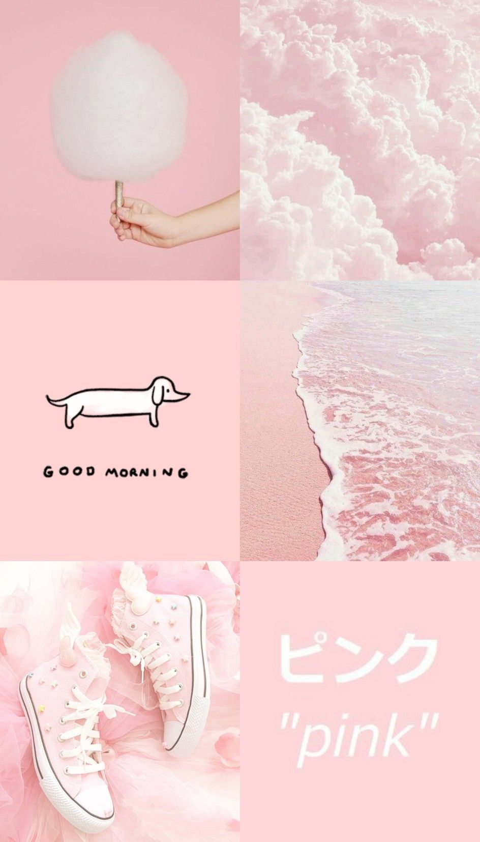 Aesthetic pink wallpaper Gambar