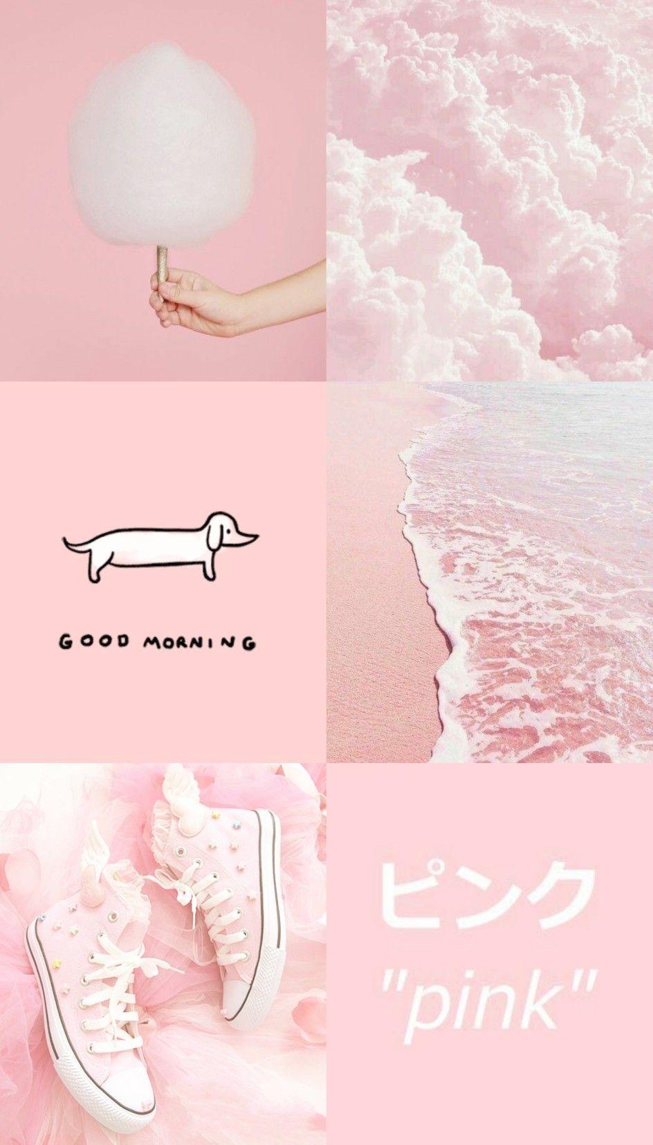 Aesthetic pink wallpaper Gambar