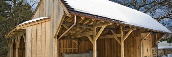 Hugh Lofting Timber Framing Carriage Shed