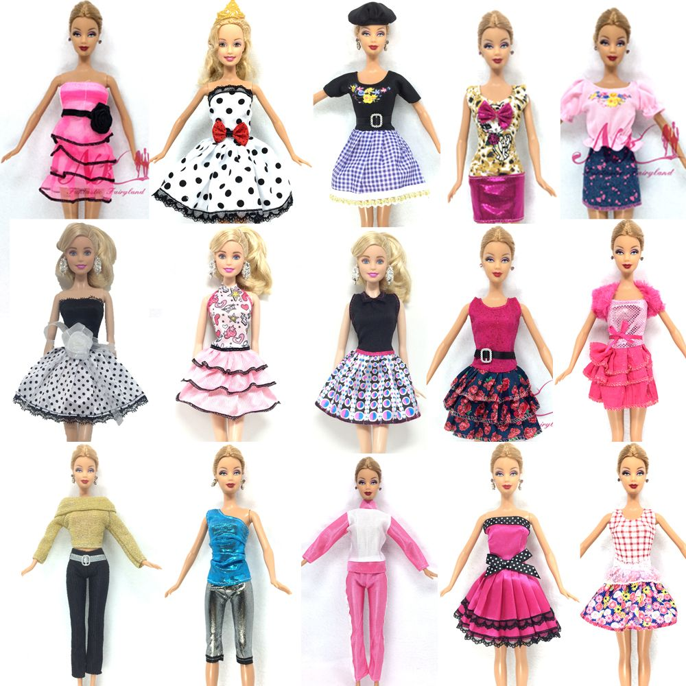 NK Newest 5 piece   lot Super beautiful Autumn clothing fashion casual wear  clothes for barbie doll Free Shipping a2ecf3aab16a