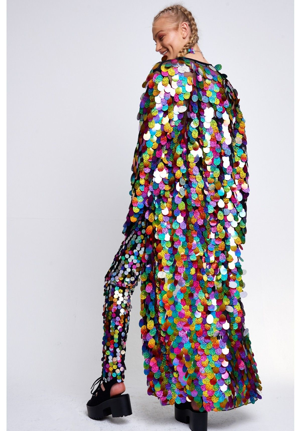 Rainbow Sequin Maxi Kimono | the greeks | Pinterest | Sequin maxi ...