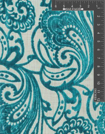 Special Order Gothic Paisley Turquoise Online Discount Drapery