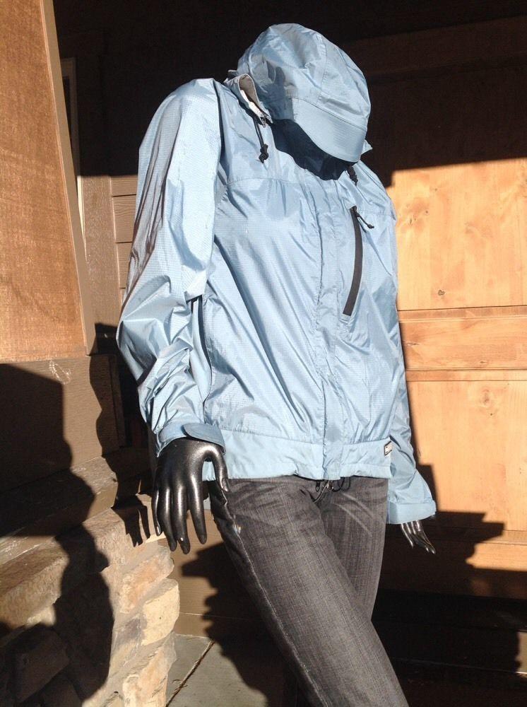 Rei Womens Shell Rain Wind Detachable Hooded Jacket Elements 1 Slate Blue L   eBay