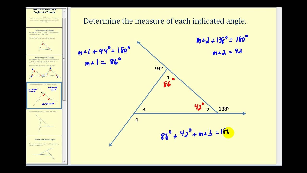 Introduction To The Interior And Exterior Angles Of A Triangle Interior And Exterior Angles Exterior Angles Persuasive Writing Prompts