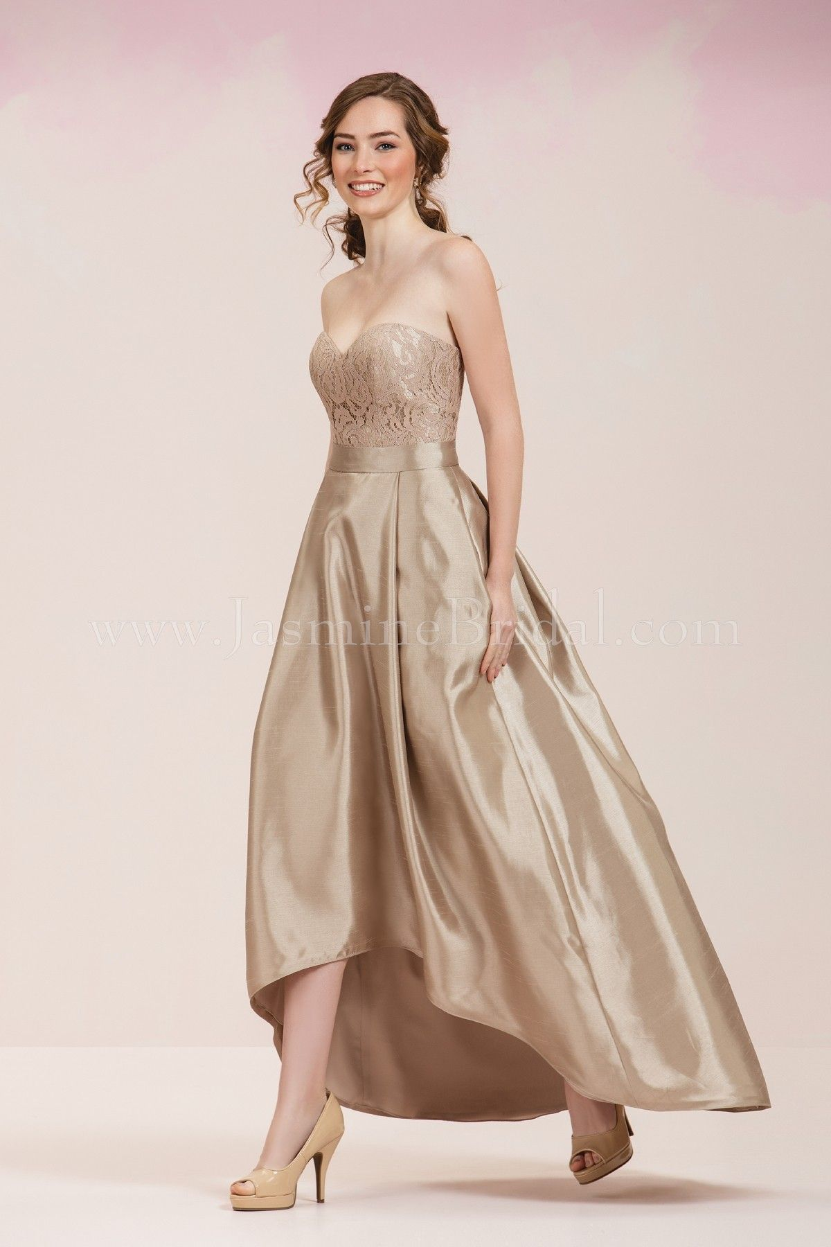 Jasmine Bridal Bridesmaid Dress Bridesmaids Style P186061 In Latte