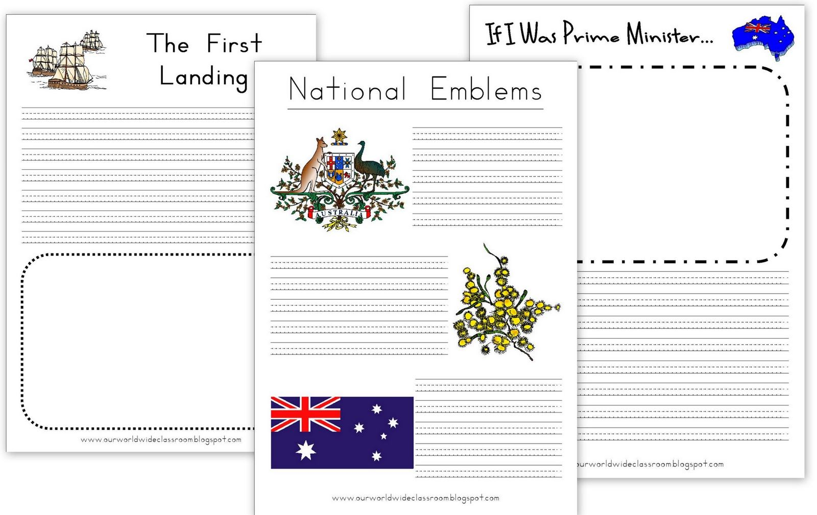 Free Printable Australia Day Learning Packet Australia