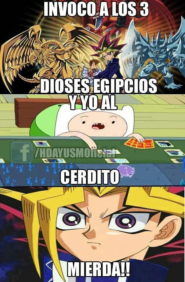 Yugi Moto Esta En Serios Problemas Yu Gi Oh Duel Master Hora De Aventura Adventure Time Memes Memes Divertidos Meme Divertido