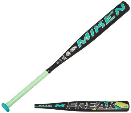 Miken Freak Composite Fast Pitch Softball Bat, Black, 34