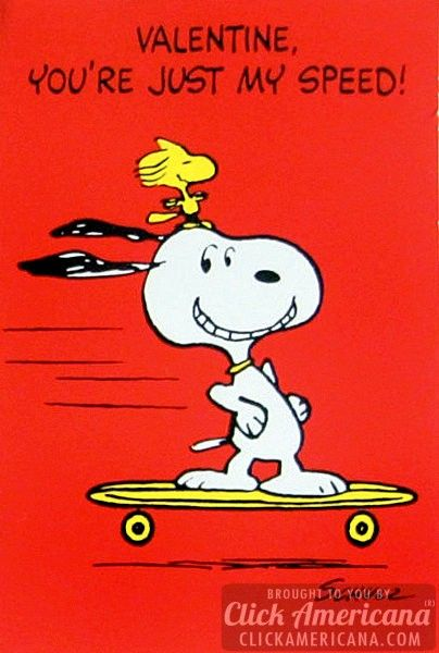Vintage Snoopy Valentineu0027s Day Cards