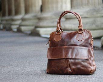 Leather Bag Handmade Tote Women Shoulder