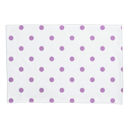 Polka Dot Pillowcases Prepossessing Elegant Purple Polka Dots Pillowcase  Pillow Cases  Pinterest Decorating Inspiration