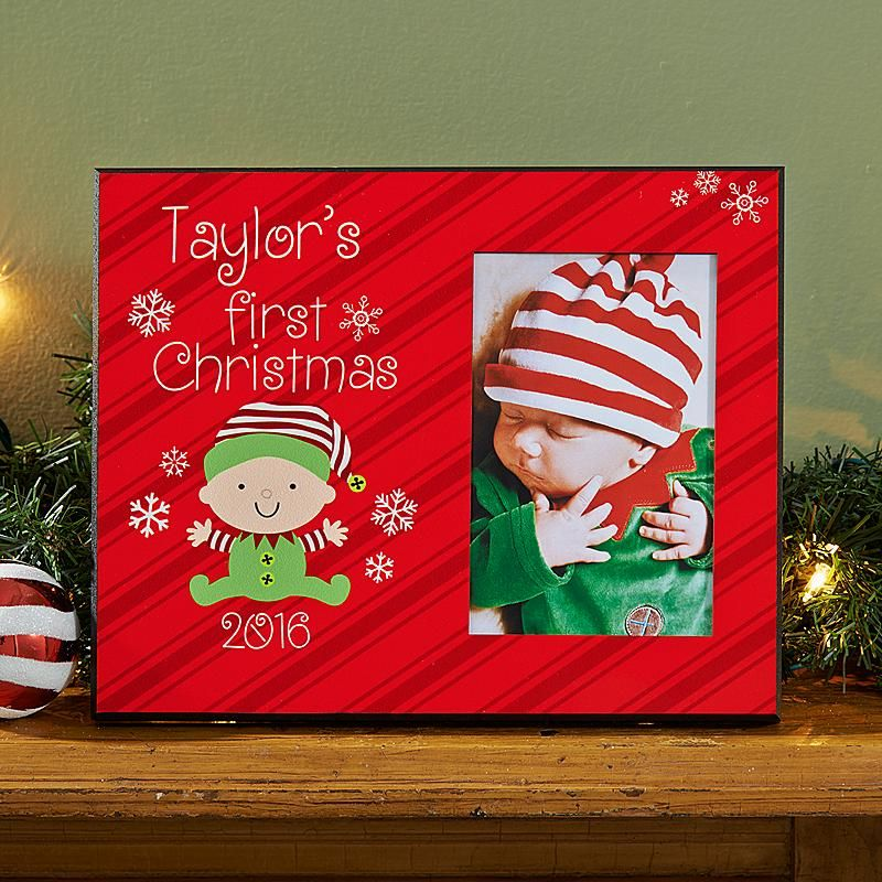 Baby\'s First Christmas Frame | Frame crafts, Christmas frames and Craft