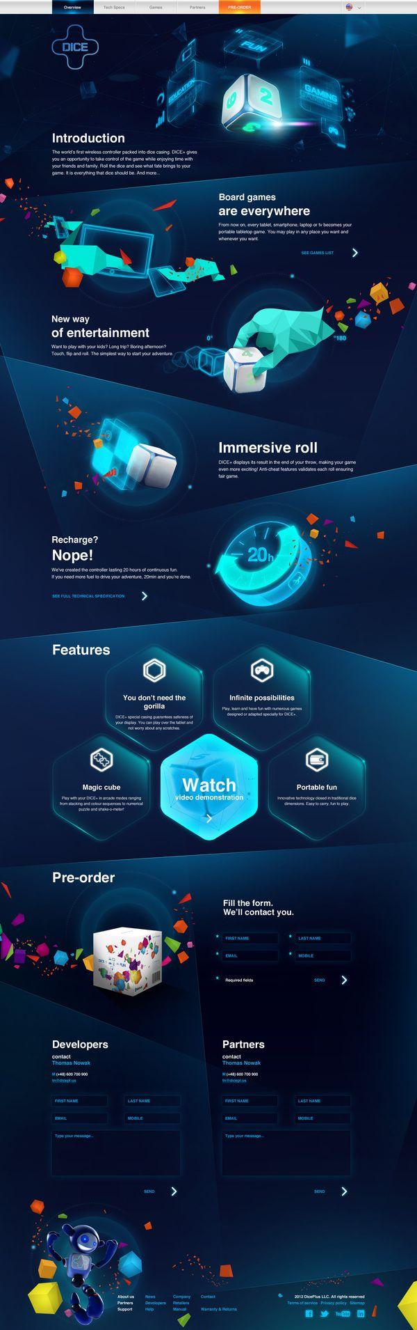 Cool Web Design on the Internet, DICE. #webdesign #webdevelopment ...