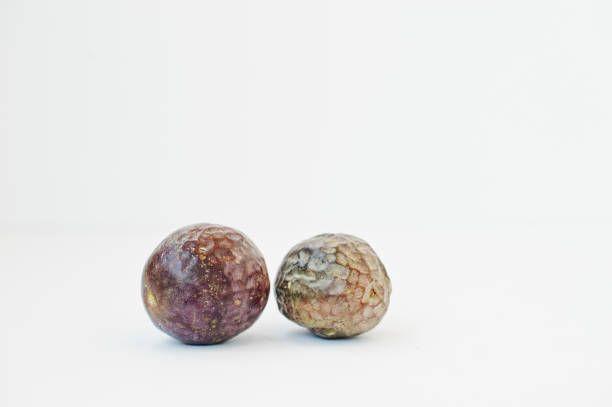 exotic fruits passion fruit or maracuya isolated on white background