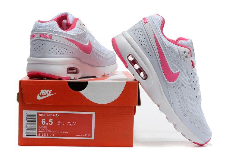 Dames Nike Air Max Classic BW Schoen Verkoop Wit Perzik ...