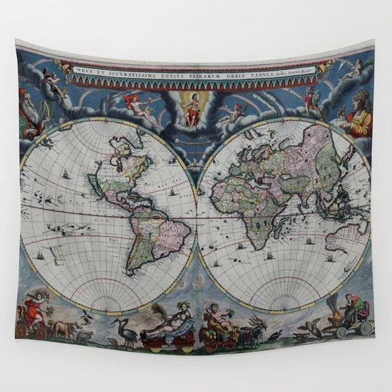 Old world map wall tapestry vintage map large size wall art old world map wall tapestry vintage map large size wall artmodern decor gumiabroncs Images