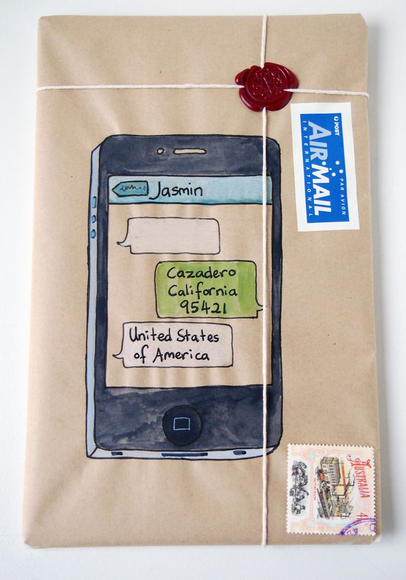 Old meets new: iphone snail-mail