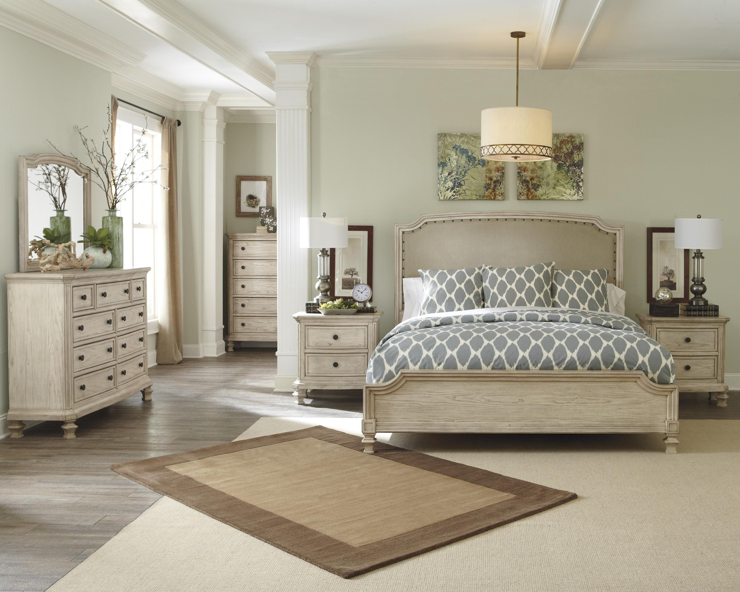 Demarlos Queen Upholstered Panel Headboard with Nailhead Trim by ...