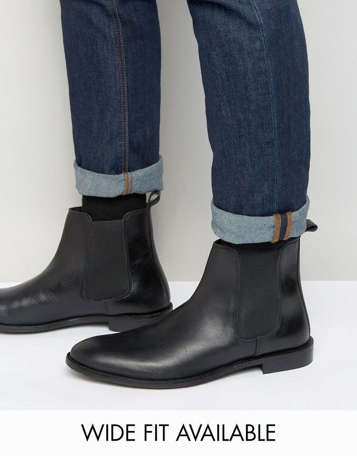 dedf20454c Asos Chelsea Boots in Leather - Wide Fit Available