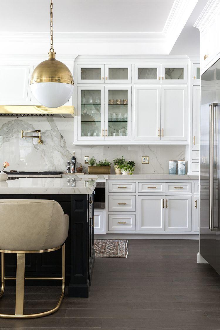 Kitchen with a Marble Backsplash | Lather | Pinterest | Open ...