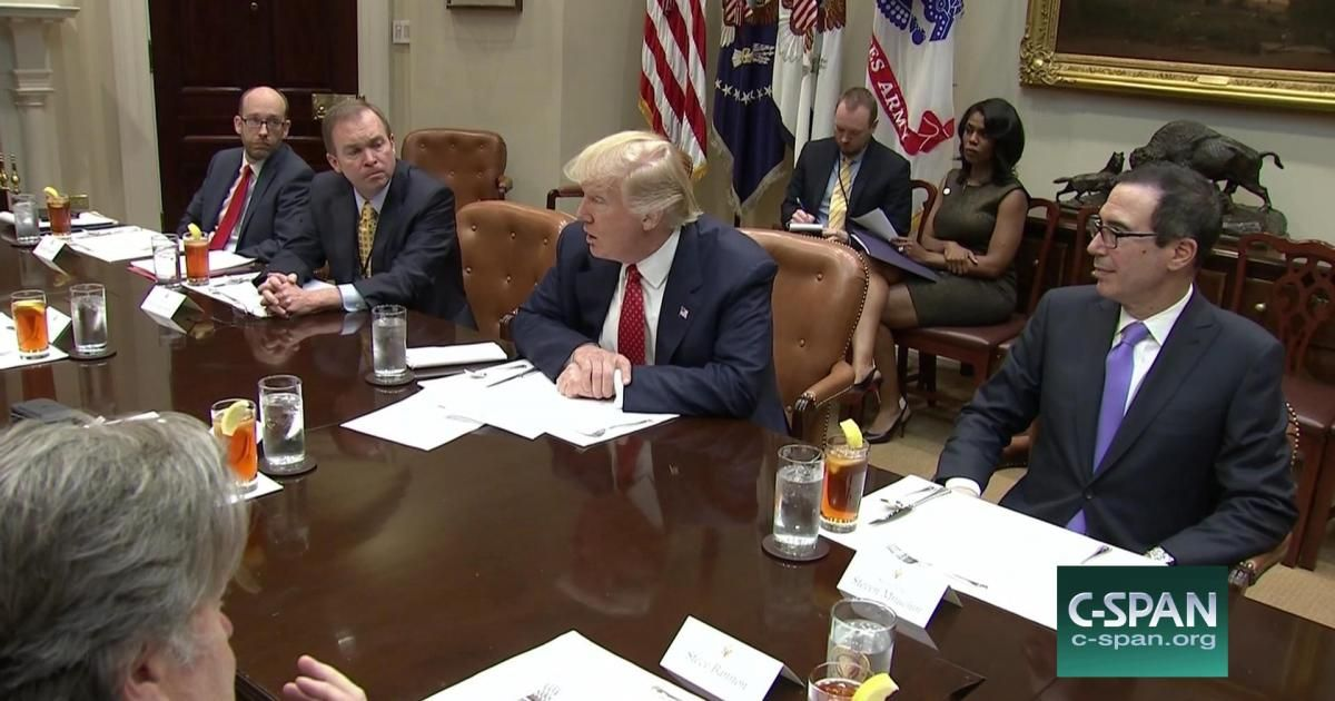 President Trump delivers remarks at a White House l…