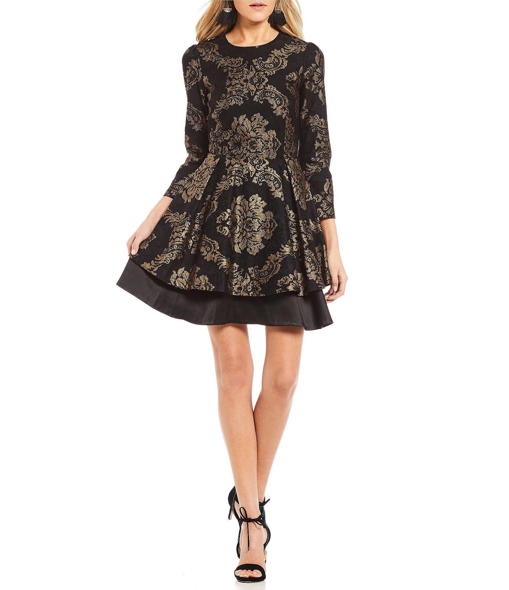 Gianni Bini Kyli Brocade Dress | Brocade dresses, Dillards and ...