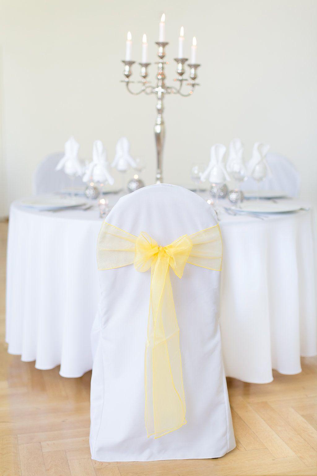 Organzaband Gelb Mieten Als Band Fur Die Stuhlhusse Oder Als Tischband Turkis Hochzeit
